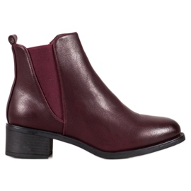 Ideal Shoes Klassieke laarzen met elastische band rood