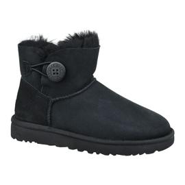 Ugg Mini Bailey Button Ii W 1016422-BLK schoenen zwart