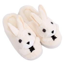 Beige slippers MA17 Wit bruin