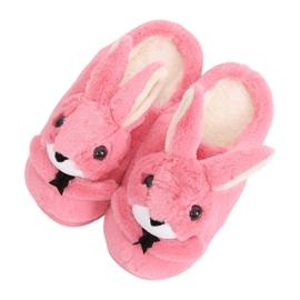 Bunnies damespantoffels donkerroze MA17 rood