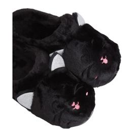 MA16 Zwarte damespantoffels Zwart