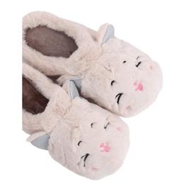 MA16 slippers voor dames in melkwit bruin