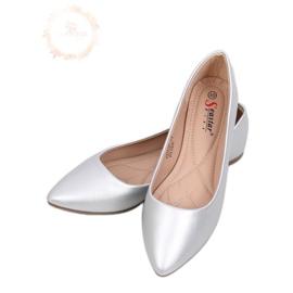Zilveren amandel ballerina's tenen CD52P Zilver grijs