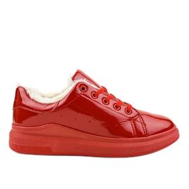 Rode geïsoleerde sneakers TL140-3 rood