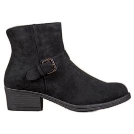 J. Star Suède laarzen met een gesp zwart