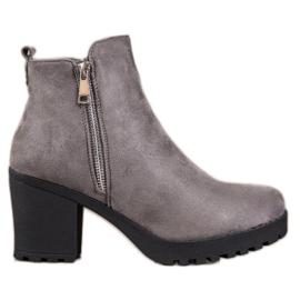 Seastar Modieuze grijze laarzen zwart