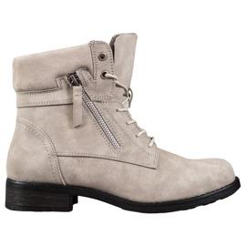 Goodin Beige laarzen bruin