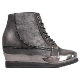 Sergio Leone Zilveren sneakers grijs
