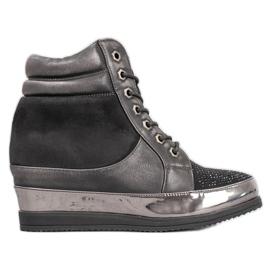 Sergio Leone Sneakers met kristallen zwart
