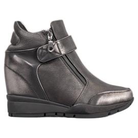 Sergio Leone Sneakers op de ritssluiting grijs
