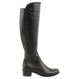 Lange laarzen met een gevlochten Espinto 194 Darex zwart