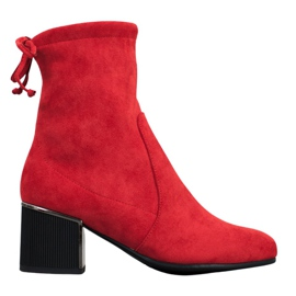 Goodin Stijlvolle rode laarzen rood