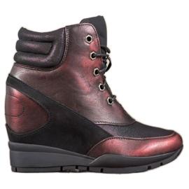 Sergio Leone Burgundy Sneakers rood