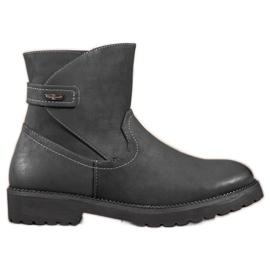 Sergio Leone Comfortabele zwarte enkellaarzen