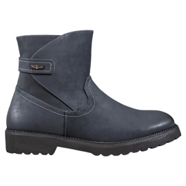 Sergio Leone Comfortabele marineblauwe laarzen