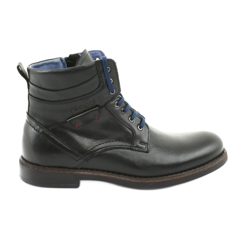 Nikopol 700 zwarte laarzen met rits