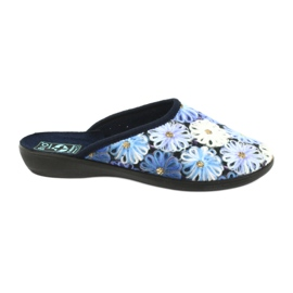 Slippers slippers 3D Adanex 24192 marineblauw
