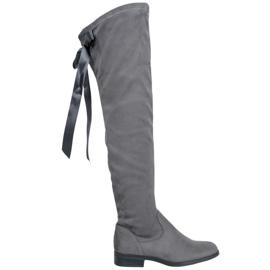 Seastar Stijlvolle dij-hoge laarzen grijs