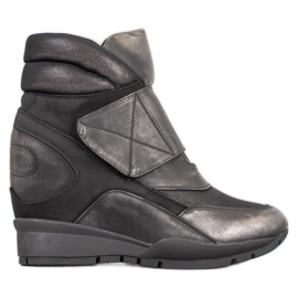 Sergio Leone Klittenband sneakers grijs