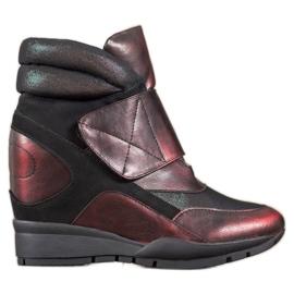Sergio Leone Klittenband sneakers rood
