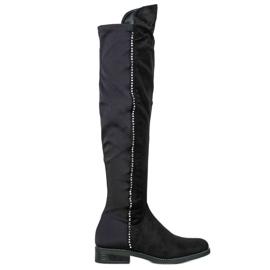 Seastar Dij-hoge laarzen met zirkonen zwart