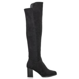 Filippo Suede Boots On A Bar zwart