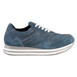 Kylie Sportschoenen met eco-leer blauw