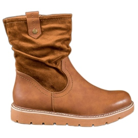 Ideal Shoes Platformwerkers bruin