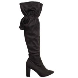 Seastar Zwarte laarzen met franjes