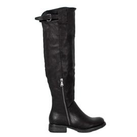 Forever Folie Lederen laarzen zwart