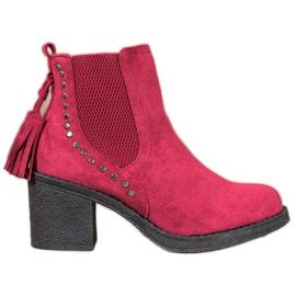 Small Swan Jodhpur laarzen met kwastjes rood