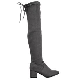 Seastar Grijze dij-hoge laarzen grijs
