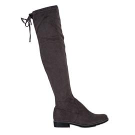 J. Star Suede dij-hoge laarzen grijs
