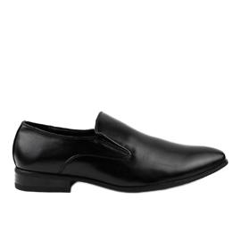 Zwarte elegante instappers 6-317