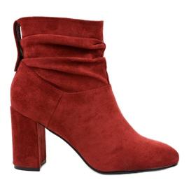 Bourgondische elegante laarzen op de paal 884 rood