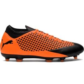 M Puma Future 2.4 Fg Ag 104839 02 voetbalschoenen oranje zwart, oranje