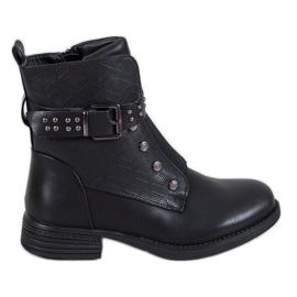 J. Star Zwarte laarzen met elastische band