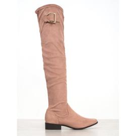 Jumex Elegante laarzen met een gesp roze