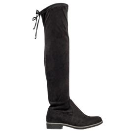 J. Star Suede dij-hoge laarzen zwart
