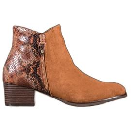 Kylie Camel Boots Snake Print bruin