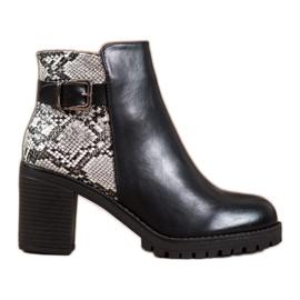 Seastar Laarzen op het Snake Print-platform zwart