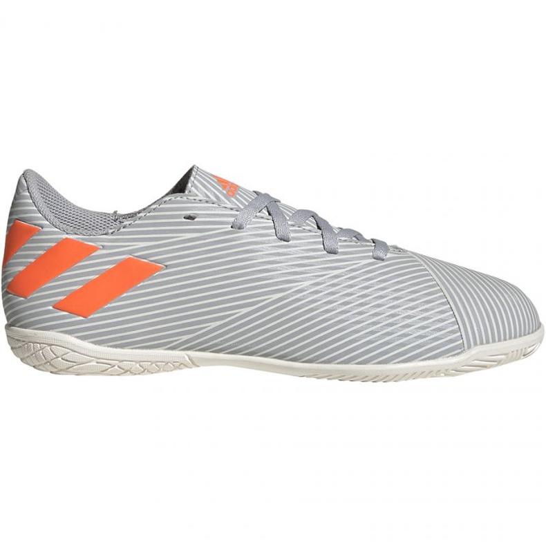 Adidas Nemeziz 19.4 In Jr EF8307 voetbalschoenen grijs oranje, grijs / zilver