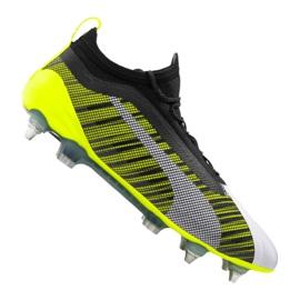 Puma One 5.1 Mx Sg Fg M 105615-02 voetbalschoenen wit, zwart, geel veelkleurig