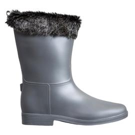 SHELOVET Wellingtons Met Bont grijs