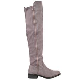 Seastar Grijze laarzen met schuifregelaar grijs