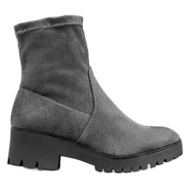 SHELOVET Grijze laarzen op het platform grijs