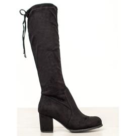 J. Star Klassieke suède laarzen zwart