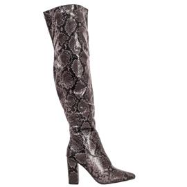 Seastar Laarzen over de knie Snake Print