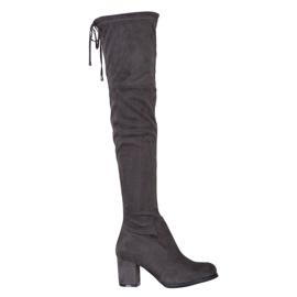 J. Star Slip-on hoge laarzen grijs