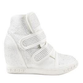 Witte wedgesneakers KLS-112-3